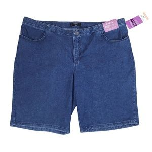 NWT Riders By Lee Bermuda Jean Shorts Size 24W